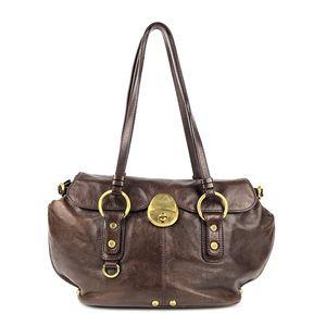 FRANCESCO BIASIA Vtg Leather Shoulder Handbag